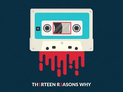 13 Reasons Why series netflix cassette retro minimal 13reasonswhy