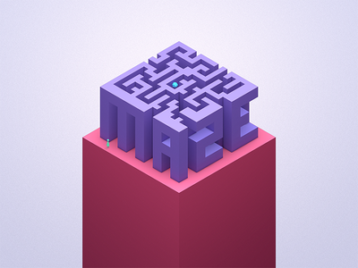 The Isometric Maze happy new year isometric typography typography cinema4d 3d isometric maze