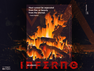 Inferno - Elements poster series (I/IV)