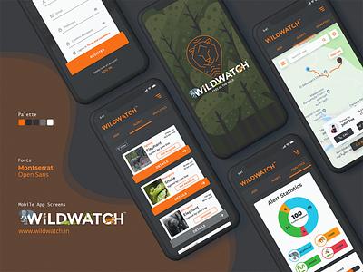 WildWatch App UI Design app ui android app iphone mobile app uiuxdesign uiux ui