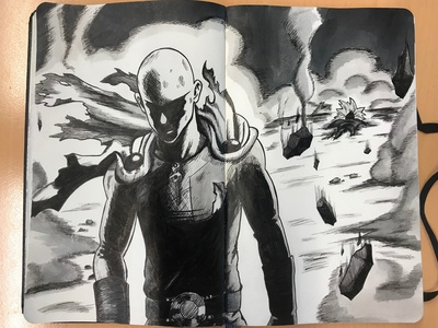 One Punch Man drawing