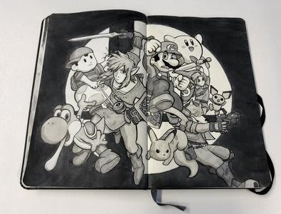 Super Smash Bros. Drawing