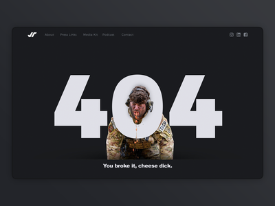 404 Page ui personal website ux design just for fun personal brand 404 error 404 page 404 website
