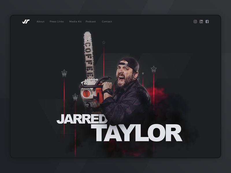 Jarred Taylor website header