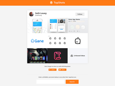TopShots detail page