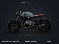 Motorcycle website UI