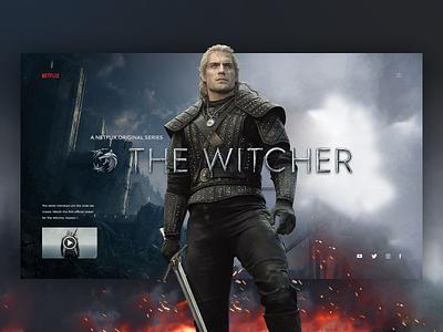 The Witcher website concept series movie uiux ui web deisgn web design website henry cavill netflix witcher the witcher
