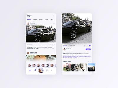 Social App Feed social app camaro mobile design ios mobile mobile ui social discovery ux ui design app design app feed