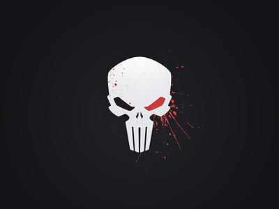 Punisher Skull illustrator illustration blood identity design vector logo skull logo punisher skull skull punisher