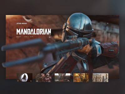 Mandalorian Streaming ui web app star wars streaming service design concept disney starwars tv mandalorian streaming
