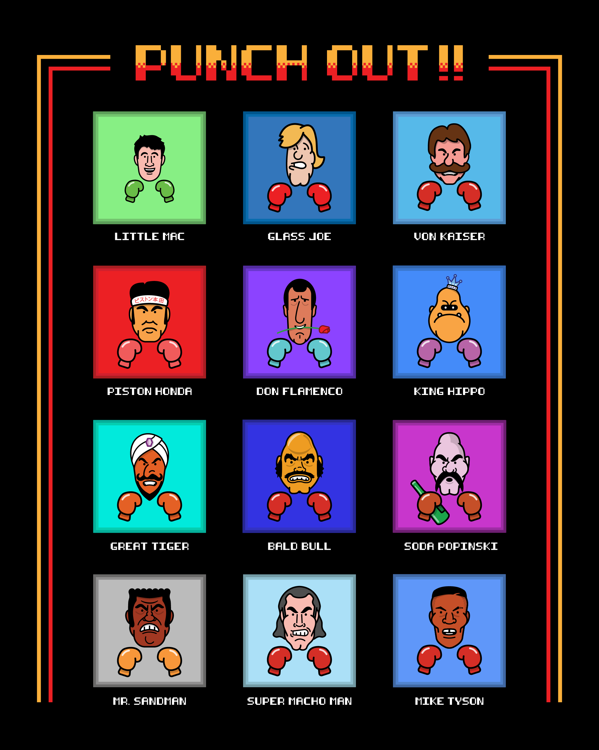 Mike Schilling / Projects / Punch Out Series | Dribbble