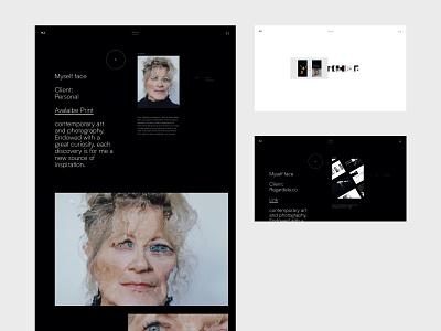 Layout Shoot Portfolio branding abstract ui layout web typography graphic minimal design