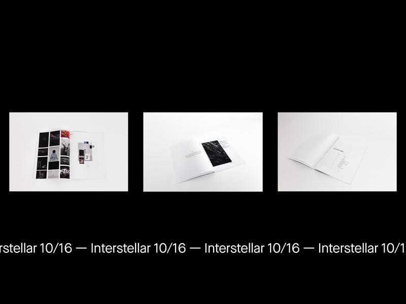 Interstellar 10/16 — print book interstellar graphic abstract minimal design motion animation