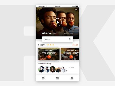 FX Atlanta 🎞 movie episodes donald glover atlanta fx tv shows ios concept mobile app