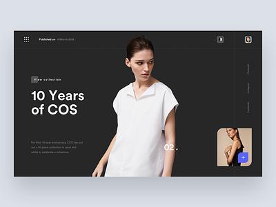 COS 👗 layout fashion desktop interface web digital ux ui