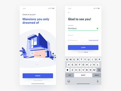 Login 🔑 • Freebie login onboarding freebie sketch ios app concept mobile ux ui