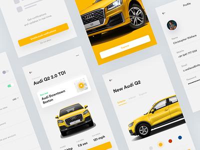 Audi 💨 • Freebie ios freebie sketch typography layout shop audi iphone mobile app product colors car