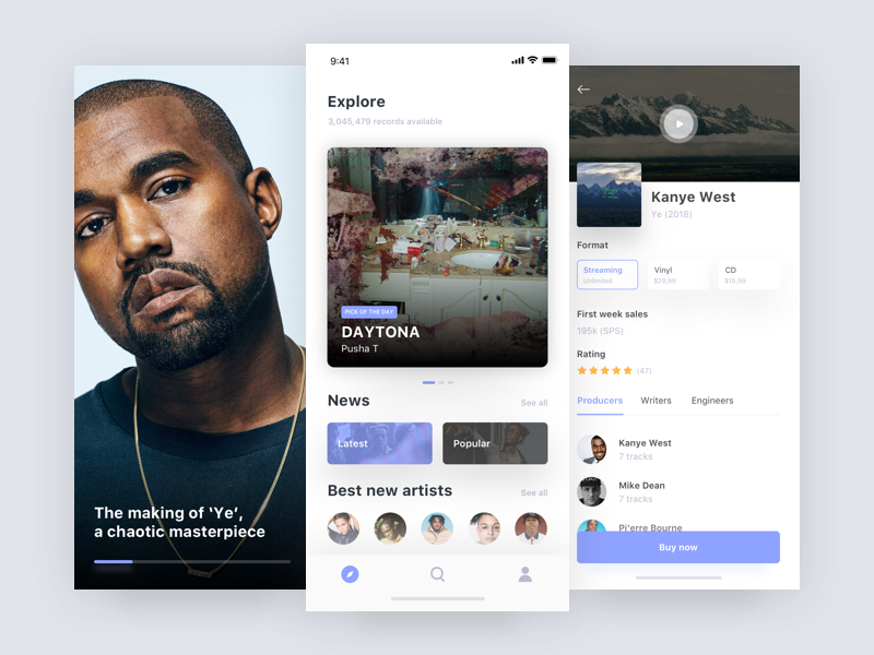 Ye 🤯 • Freebie freebie sketch streaming song album product iphonex ios mobile app music