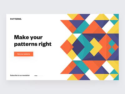 Patterns ◻️ product landing colors palette colors patterns grids grid layout desktop web
