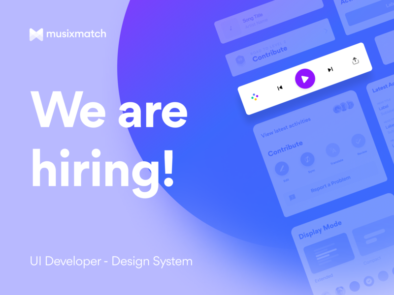 We're hiring! 📢 talent ds reactnative react musixmtach openposition job apply uideveloper designsystem recruiting hr