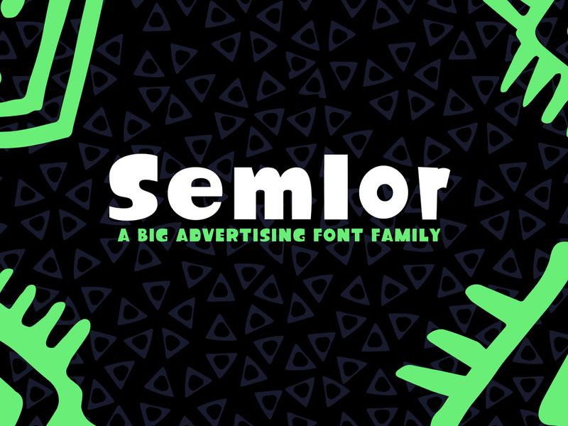 Semlor font logo design regular italic carton comic font family display game big font semlor