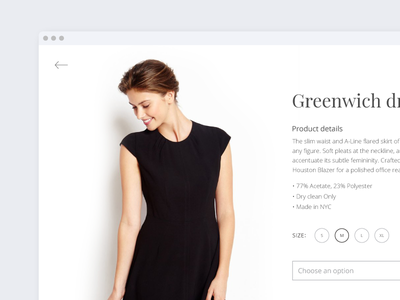 Product Details daily ui ui daily details product typography modal minimal dress fashion white space clean