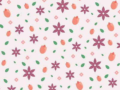 Floral Pattern pastel feminine flowers pattern floral flat