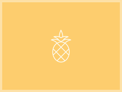 Pineapple Gold icon illustration swatch gold pineapple yellow