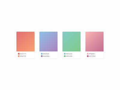 Gradient Collection hex color swatches gradient