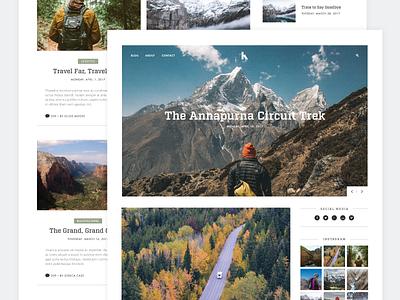 Travel Blog nature design web minimal blog travel