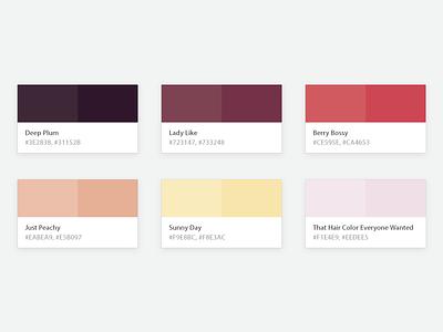 armoire color palette la oo plum berry rose feminine pastel minimal armoire palette color