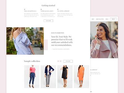 Website clothing pink feminine minimal site web fashion