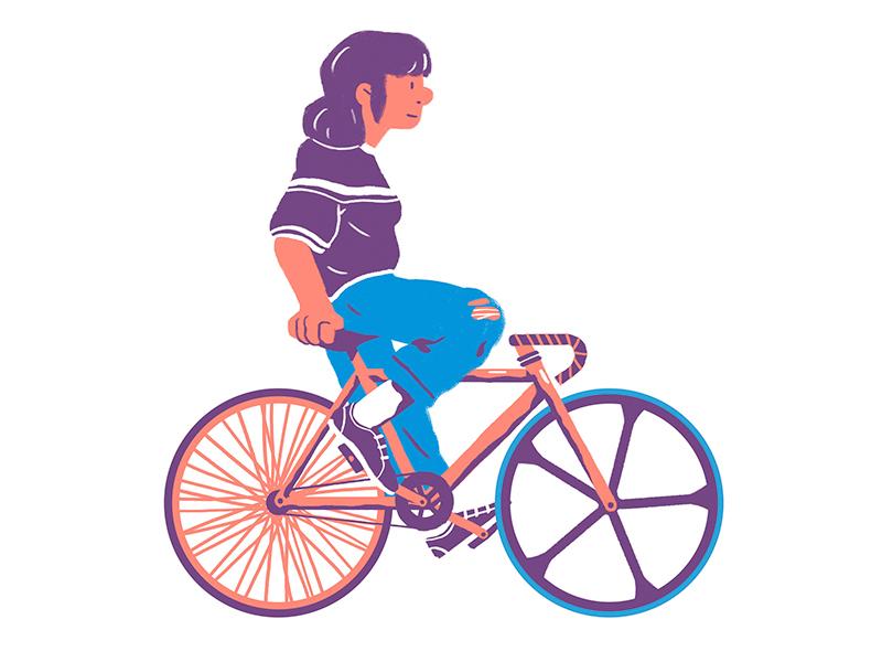 Fixie color flat design illustration bike fixie