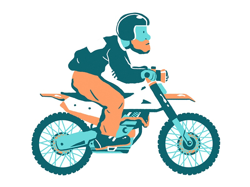 Dirt Bike bike dirt color design illustration flat character