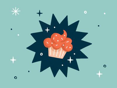 Sneak Peek sweet tooth icing sparkles dessert illustration treat sweet cupcake