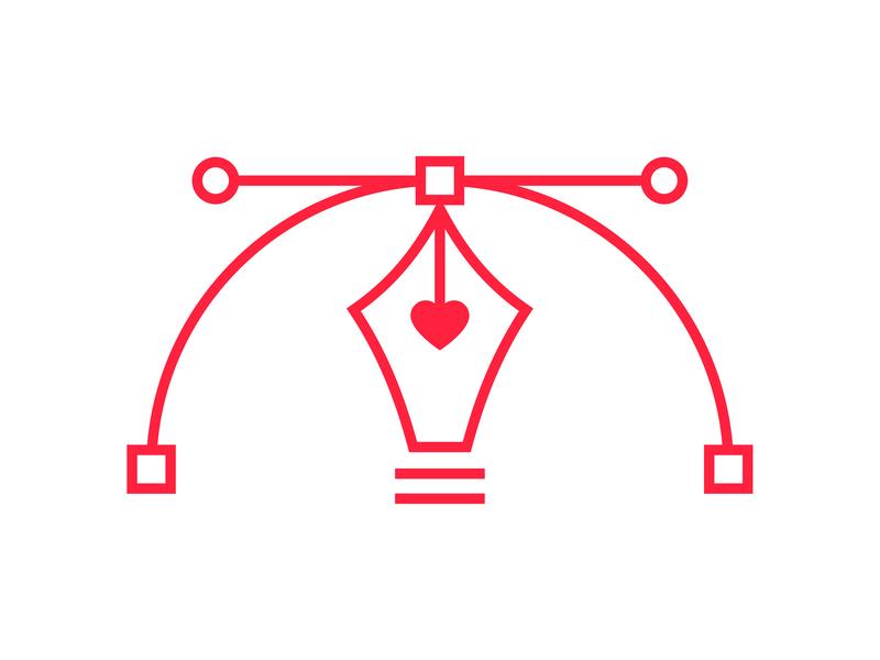 Design Love vector love heart pen tool graphic design graphic  design