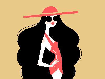 Minimal Gal procreate graphic design female character illustration art fashion art fashion illustration minimal female illustration designed by shea