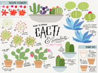 Cacti & Succulents Illustration Tutorial