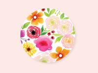 Floral Coaster Design