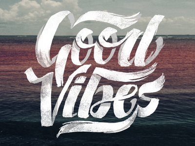 Good Vibes Dribbble t-shirt good vibes lettering
