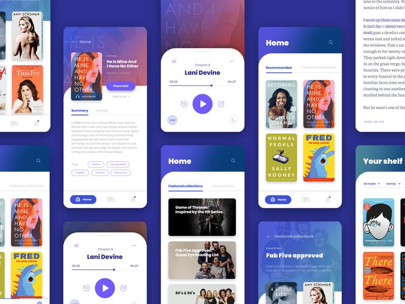 Overdrive Libby ui book app reading reading app library ebooks ebook audiobooks audiobook application uxui uidesign app ui design