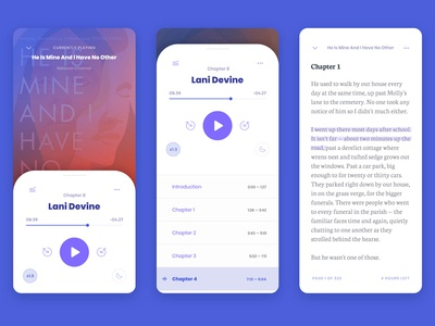Overdrive Libby — Audiobook & e-Book UI