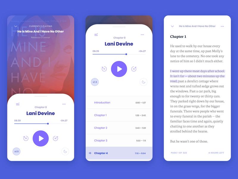 Overdrive Libby — Audiobook & e-Book UI app design ux design branding uxui ui design uidesign ui reading app reading library ebooks ebook book app audiobooks audiobook application app