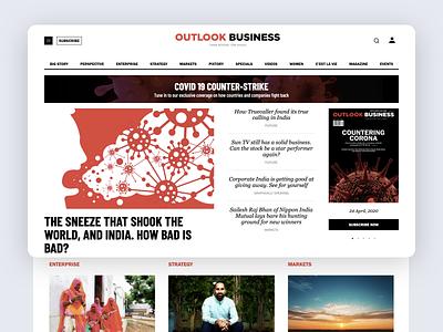 Outlook Business - News portal magazine design responsive subscription magazine news website ux design ui