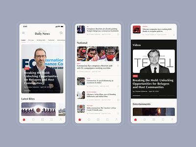 News app design news articles clean news app ios app ux concept design ui