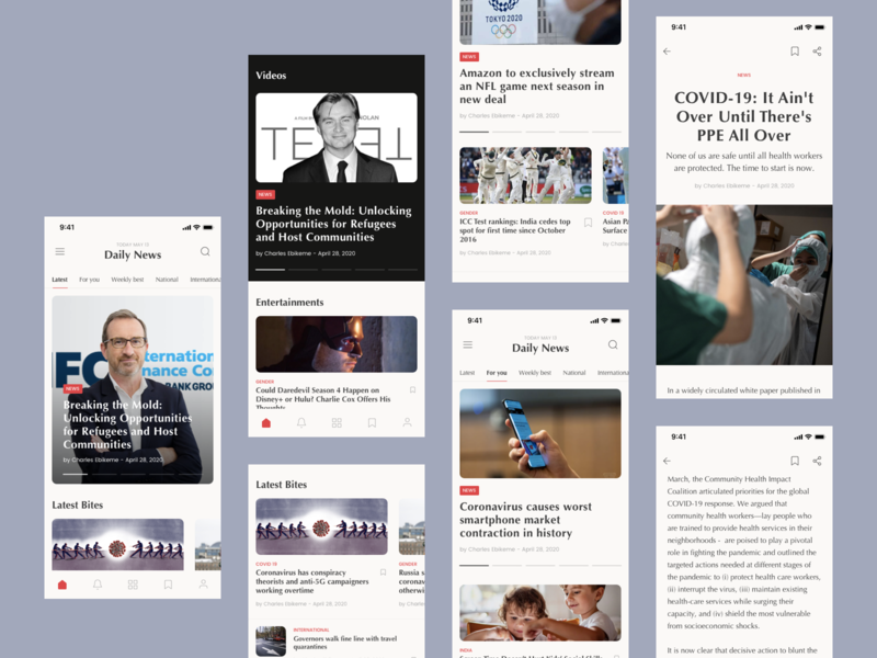 News app design story category page article design online news news app ios android app app ux concept design ui
