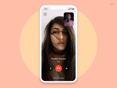 Video call app ux design ux ui design uiux dailyui design app video call video