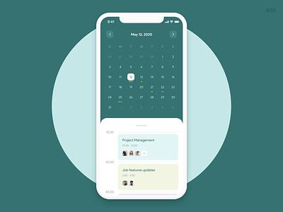 Event calendar | app design concept dailyui clean design green color android ios design app calendar event