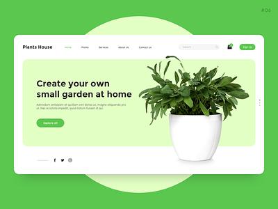 website for buying plants shopping buy online pot ecommerce plant nature green website ux concept ui design