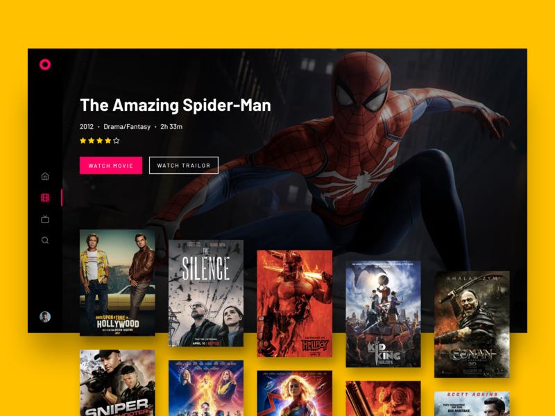 📺 TV UI - Movies by Jobish KM on Dribbble